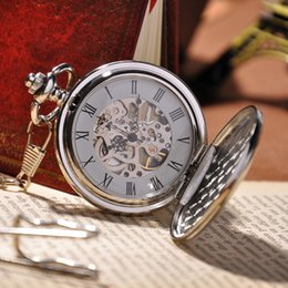 Wholesale Classic Analog Men Mechanical Watch Cool Romantic Pocket Watch for Lovers Fashion Valentine Day Gift PW37