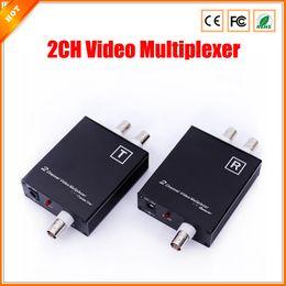 Vidéotransmission en Ligne-Nouvelle caméra de vidéosurveillance 2CH Multiplexeur vidéo pour le système de sécurité avec Signal Distance de transmission jusqu'à 600m