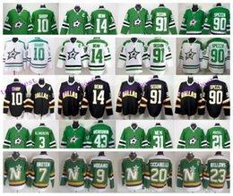 Wholesale Dallas Stars Ice Hockey Jersey Jamie Benn Tyler Seguin Patrick Sharp Jason Spezza Mike Modano Horcoff Broten Parise Retro Jersey