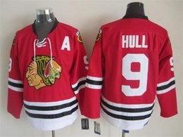Wholesale Top Quality Men Blackhawks Ice Hockey Jerseys Cheap Bobby Hull Throwback Vintage CCM Authentic Stitched Jerseys Mix Order