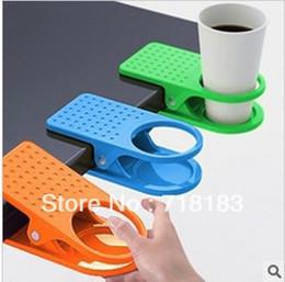 Wholesale Mixed Creative Deskside Clip Cup Holder Big Clip Kitchen Table Tableware Home Essential X7 X3CM