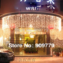 Wholesale LED Curtain Luminary Lamp Chandelier Luminaria Outdoor Decoration Lamps M Navidad Luminous Pendante String Lights Lighting