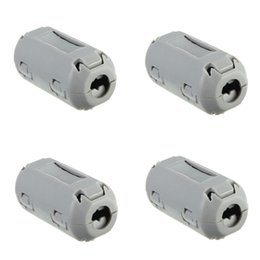 Wholesale 4pcs mm nickel zinc Removable Plastic Clip On EMI RFI Noise Suppressor Cable Ferrite Core Filters Grey