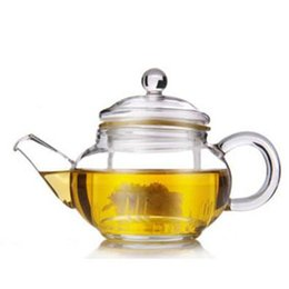 Wholesale 2016 New Arrival ml Teapot With Handle and Lid Double Wall Cups Glass Tea Sets For Making Flower Tea