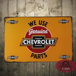 Wholesale We use Chevrolet Parts Vintage iron painting painted car poster modern decorative painting car series