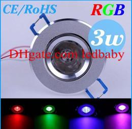 3W 85-265V RGB led Ceiling wall Lights Recessed Lamp LED bulb Spotlight downlight + Remote Control H4945