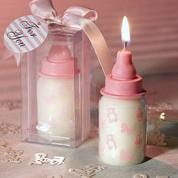 Wholesale 100pcs cm Baby Bottle Candle Favors baby shower wedding favors party gifts centerpieces giveaway accessories in stock