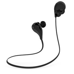 Wholesale QY7 Bluetooth Wireless Sports Headphones Running Gym Exercise Sweatproof Headsets In ear Stereo Earbuds Earphones with Microphone