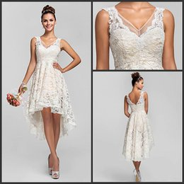 Best Selling High Low Junior Bridesmaids Dresses Cheap 2015 V Neck Short Knee Length Lace Formal Occasion Dress For Wedding Party