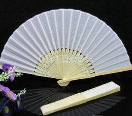 Wholesale Chinese Silk Bamboo Hand Fans Wedding Fan Bridal Accessories New arrival different color
