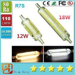 2016 New Silicone R7S LED Lamp 12W 18W SMD3014 78mm 118mm LED R7S Light Bulb 220-240V Energy Saving Replace Halogen Light