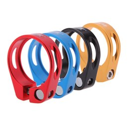 Wholesale Ultralight Aluminium Alloy mm mm g Quick Release Mountain Road MTB Bike Bicycle Seat Post Clamp Tube Clip Y0302