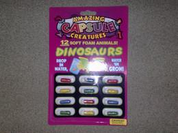 Wholesale 12pcs set Novelty Gadget Multicolor Amazing Capsule Creatures Set Fake Animal Toy Trick Joke Tool DHL