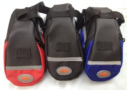 Wholesale Red Blue Black Cycling Bicycle Bike Saddle Outdoor Pouch Seat Waterproof Bag