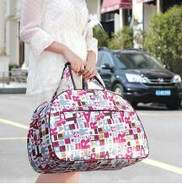 New Women Handbag Foldable Travel Bag Fashion Waterproof Oxford Women Colorful Travel Bag Large Hand Canvas Luggage Bags