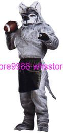 2016 футбол одежда Высокое качество EVA Материал Шлем футбол Оборотень костюмы талисмана ходьбе мультфильм одежды на заказ Размер взрослых футбол одежда для продажи