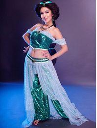 Wholesale Hot Sale New Arrival Aladdin Jasmine Princess Cosplay Costume for Adult Custom made costume