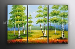 Wholesale Oil Painting Art Deco Famous Artists Gift Large Art Modern Africa Impressionism Palette Knife Landscape Tree Oil Painting