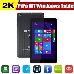 Wholesale Original PIPO W7 Quad Core Windows Tablet PC inch Intel Atom Z3735G GB RAM GB ROM Dual Camera GPS HDMI OTG tablets