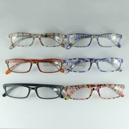 Wholesale 6 Colors Resin Reading Glasses Plastic Full Frame Eyeglasses Ligher And Cheaper Strength For Older Peoples