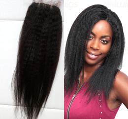 Cheap mongolian straight yaki silk base closure 4x4 with baby hair rihanna virgin hair kinky straight free middle 3 part G-EASY hair closure
