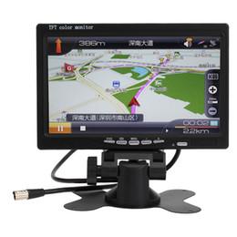 Lcd moniteur d'affichage vidéo à vendre-Nouveau 7 pouces 12V couleur TFT LCD arrière de voiture View tête de surveiller avec 2 canaux entrée vidéo pour DVD VCD Caméra de recul pour $ tra 18Personne