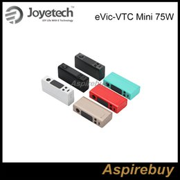 Wholesale 100 Authentic Joyetech eVic VTC Mini W VW TC Mod eVic VTC Mini Temperature Control Box Mod T Ni VT Ti VW Bypass Modes for Tron S Tank