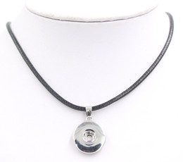 Wholesale 18mm Snap Jewelry PU Leather Rope with 18mm Button Chunky Snap Necklace