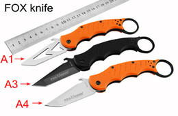 Wholesale FOX karambit claw Folding knife FOX DART C Blade HRC Tactical knife camping knife