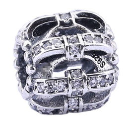 100% Sterling Silver Charms 925 Ale Rhinestone Bow Charms for Pandora Bracelets DIY Beads Accessories Gift