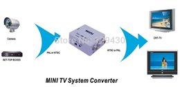 Wholesale-Mini RCA Video PAL to NTSC Bi-directional MINI TV Video System Converter PAL TO NTSC & NTSC TO PAL converter adapter