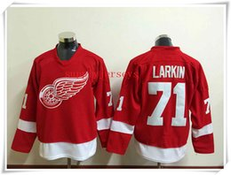 Wholesale ICE Hockey Jerseys Men Wings LARKIN Red ALL Stitched Athletic Mix Order sports jerseys
