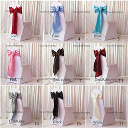 Wholesale-20CM * 275CM Taffeta Chair Sash For Wedding,Party,Hotel Decoration Red Pink White Yellow Wedding Chair Sashes