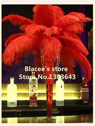 """Free shipping,Wholesale prices,8-10"""" inches,100pcs lot,red ostrich feathers for Wedding Birthday Christmas Decorations"""