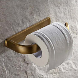 Free Shipping Wholesale And Retail Promotion NEW Antique Brass Bathroom Wall Mounted Toilet Paper Holder Roll Tissue Holder