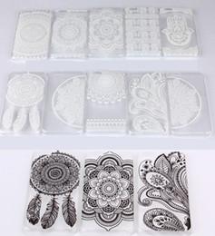 Henna White Floral Paisley Flower Mandala Plastic Hard PC Case Cover For Apple iPhone 7 6 Plus 5 5S Samsung S6 I3