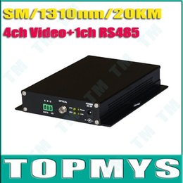 Wholesale ch Video ch RS485 for PTZ Multiplexer Over Fiber Optic Cable Transmitter Receiver TM OT343