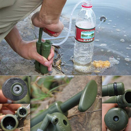 Wholesale Easy Portable plastic Ceramic Soldier Outdoor Water bag Filter Purifier Cleaner micro for Survival Hiking Camping Waterbag