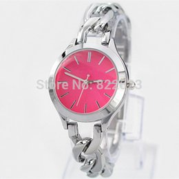 Wholesale New Model Fashion red pink blue dial bracelet women wristwatches luxury lady watch Stainless steel japan movement high quality