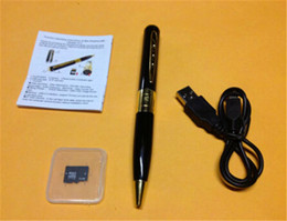 HM8 32GB 1280*960 AVI HD Pinhole 32GB Spy Pen Camera Hidden Pen DVR 32GB TF Micro SD Card is included Hidden DV Camera free shipping