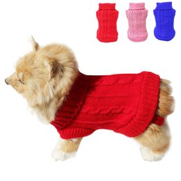 Wholesale Hot Sale Pet Dog Cat Clothes Winter Warm Sweater Knitwear for Dogs Puppy Coat Apparel Habits pour chiens