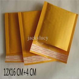 Acolchada electrónico en Línea-Los sobres de los correos electrónicos de la burbuja de Kraft de la pulgada 12 * 16cm + 4cm de 4.7 * 6.3 envuelven la bolsa rellenada los envíos del empaquetado del correo del sobre Envío libre