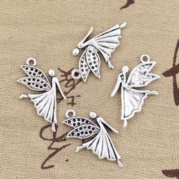 Wholesale 120pcs Charms angel fly mm Antique Zinc alloy pendant fit Vintage Tibetan Silver DIY for bracelet necklace
