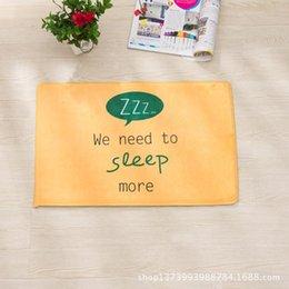 Wholesale factory price rugs carpet Manufacturers custom Taobao hot cartoon doormat carpet mats Ottomans paragraph flannel skid bath m