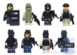 Wholesale 480pcs swat team minifigures building block