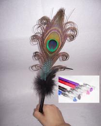 Gros-plume plume autruche stylo plume signature de mariage stylo plume d'autruche bille pen26-28cm wedding feather pens wholesale promotion à partir de mariage des stylos plume gros fournisseurs