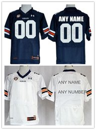 Wholesale Mens womens kids Custom Auburn Tigers American College Football Jersey Personalized Navy Blue White Double Stitched Top Quality