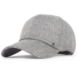 Hot Summer Linen Sun Hat Men Sports outdoor Sun Protection Fashion baseball cap Flexfit strapback large brim