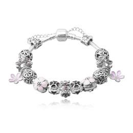Newest Charm Bracelets with Enamel Flower Charms & Dangles Fashion Snake Chain Bangle Bracelets for Women BL103