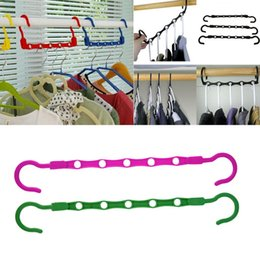Space Saving Closet Clothes Magic Hanger Holders 5 Holes Adjustable Organizer Brand New